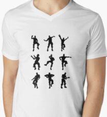 Fortnite Dances - small Men's V-Neck T-Shirt