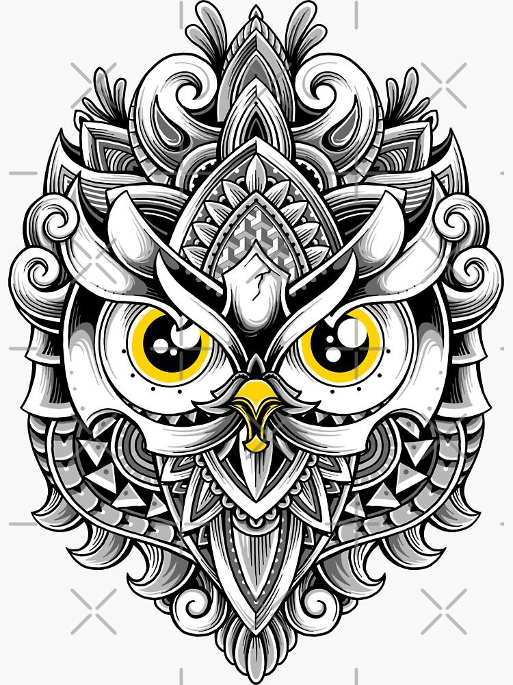 Ornate Owl by GODZILLARGE