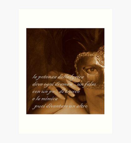 puoi diventare un altro © 2009 patricia vannucci  Art Print