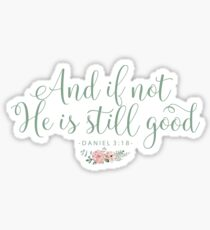 Christian Quote Watercolor Flowers Sticker