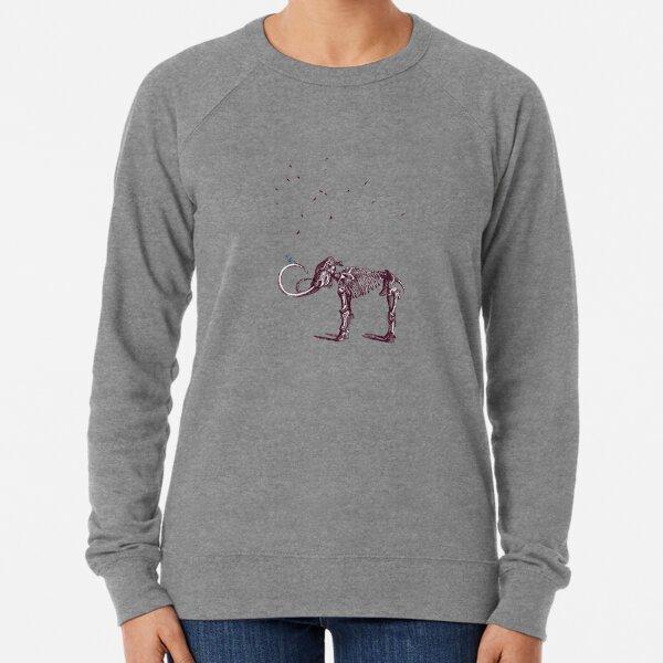 Mammoth and the birds Lightweight Sweatshirt