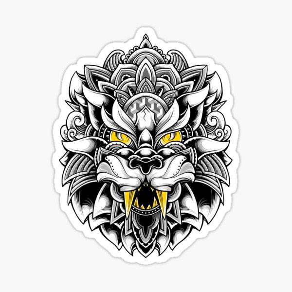 Ornate Tiger Sticker