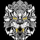 Ornate Tiger by GODZILLARGE