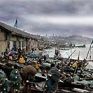 Net Boys at the Boats by Wayne King