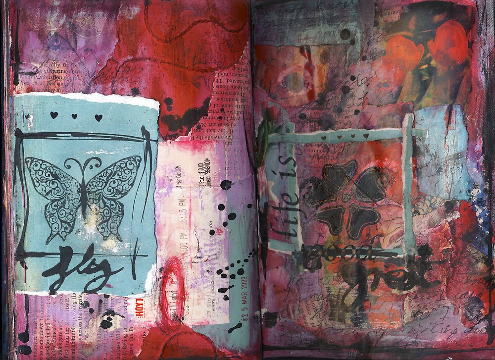 Art Journal - fly by Clare Reid