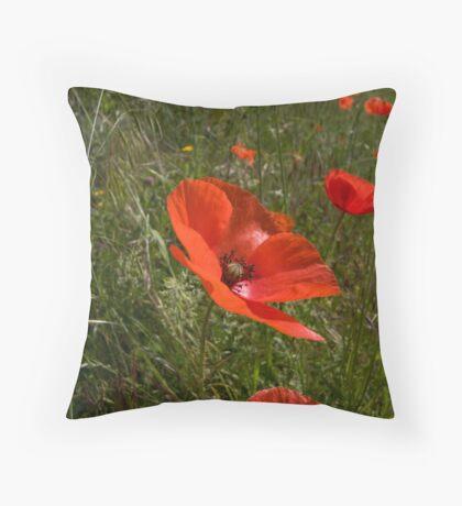 Poppies 1 Throw Pillow