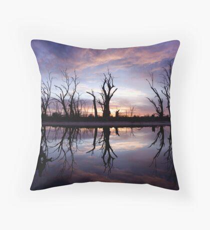 Backwater Sunrise Throw Pillow