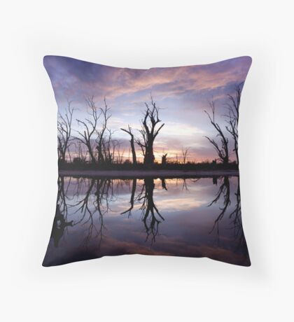 Backwater Sunrise Throw Pillow