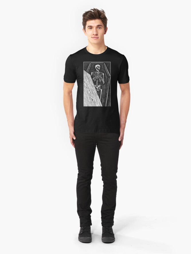 Alternate view of Death Bed Stipple Slim Fit T-Shirt