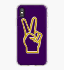 PEACE, VICTORY HAND  iPhone Case