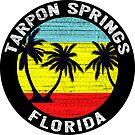 Tarpon Springs Florida Tropical Beach Palm Trees Gulf Of Mexico by MyHandmadeSigns