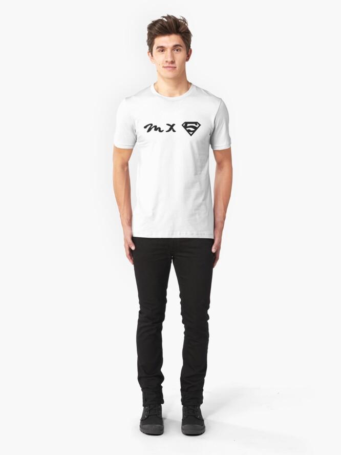 Alternate view of MX5 cool logo Miata Slim Fit T-Shirt