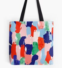 Modern paint strokes pattern Tote Bag