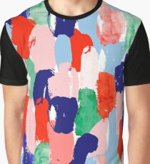 Modern paint strokes pattern Graphic T-Shirt