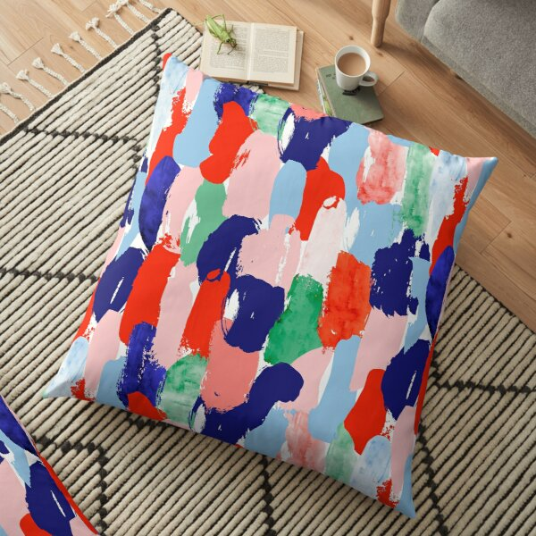 Modern paint strokes pattern Floor Pillow