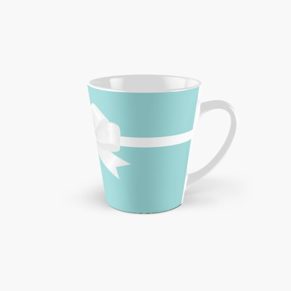 Turquoise & White Bow Tall Mug