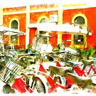 Railway station and bicycle by Giuseppe Cocco