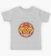 Bhutan Emblem National Pride Design Kids Tee