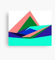 Pink Hills, Generative Art, Data Visualisation Canvas Print