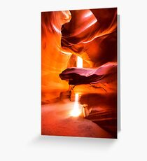 Sunbeam in Antelope Slot Canyon Greeting Card