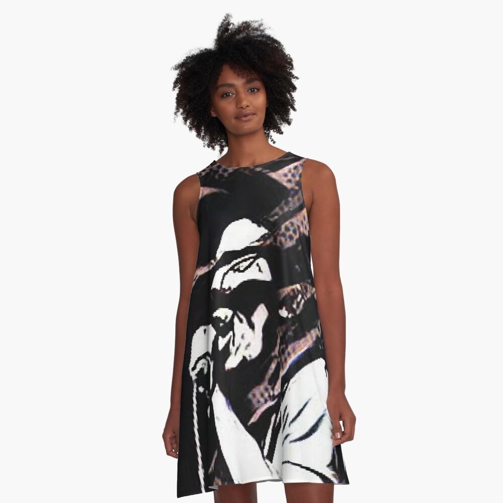 Rastaman Reggae Legend A-Line Dress Front