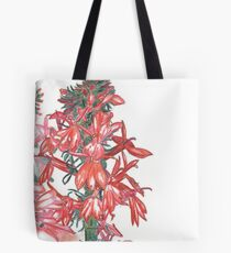 Summer Cardinal Flowers Tote Bag