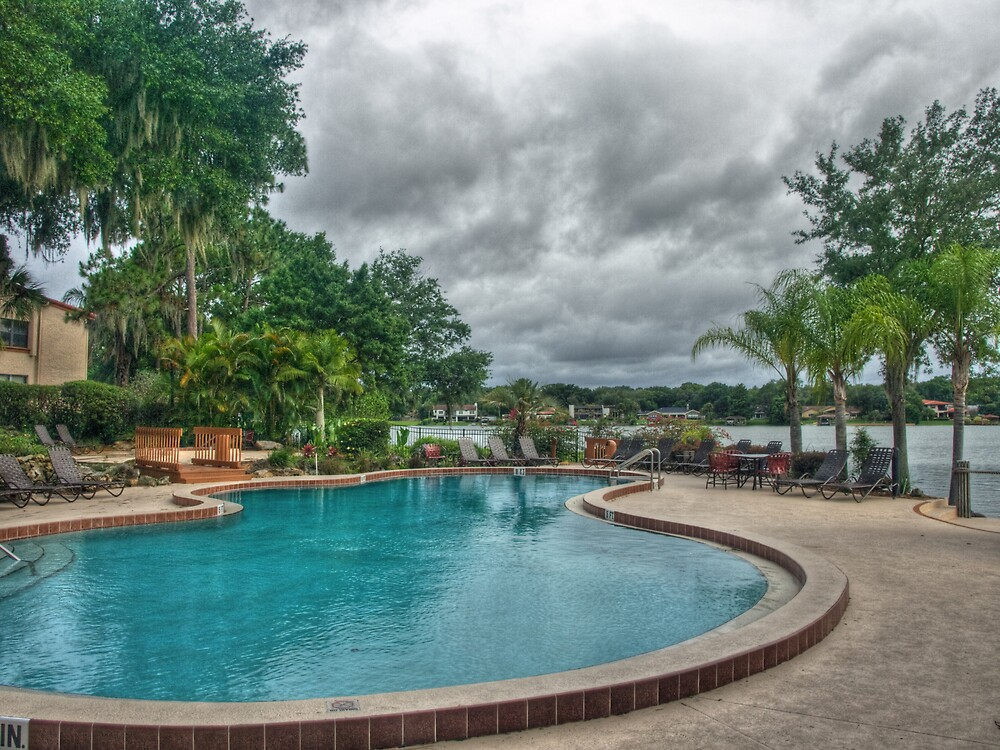 Poolside by David Akers