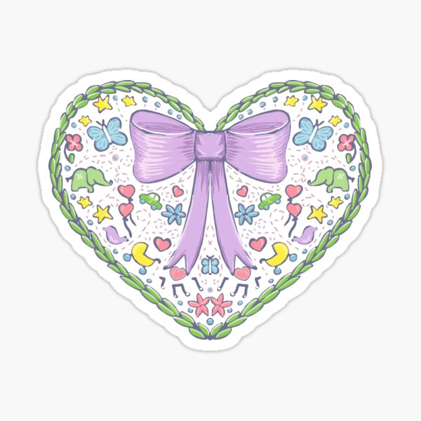 Cute heart for a new baby Sticker