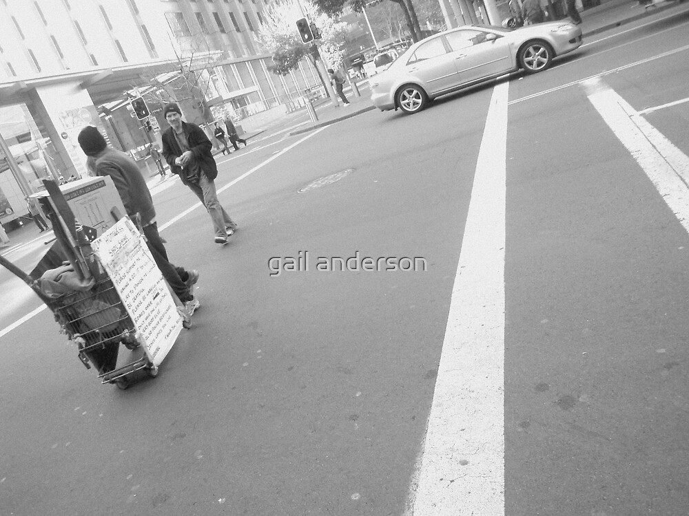 I'm Homeless - Shoe Shine by gail anderson