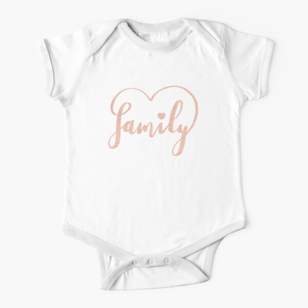 Family Love by Alice Monber Short Sleeve Baby One-Piece