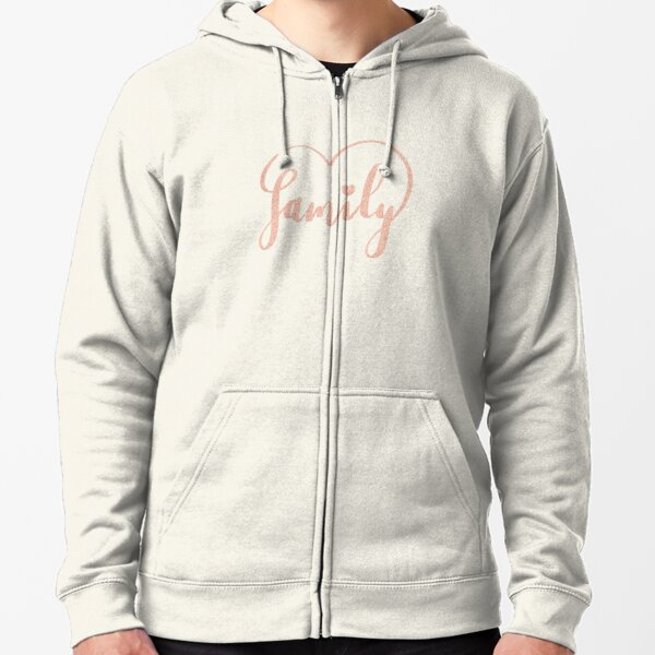 Family Love by Alice Monber Zipped Hoodie