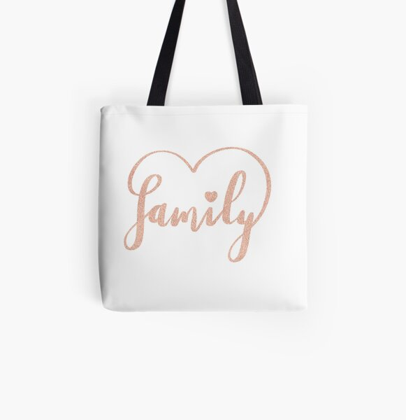 Family Love by Alice Monber All Over Print Tote Bag