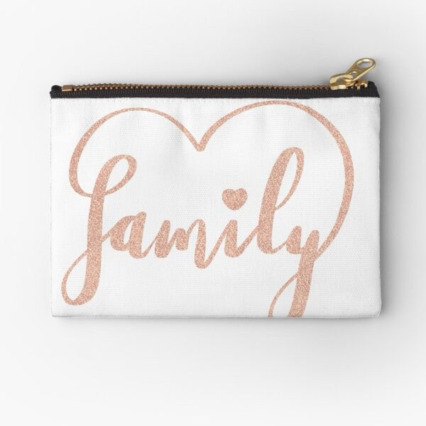 Family Love by Alice Monber Zipper Pouch