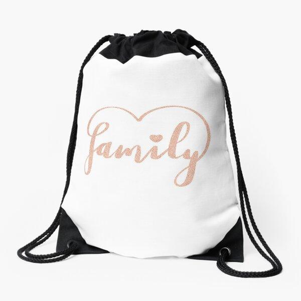 Family Love by Alice Monber Drawstring Bag
