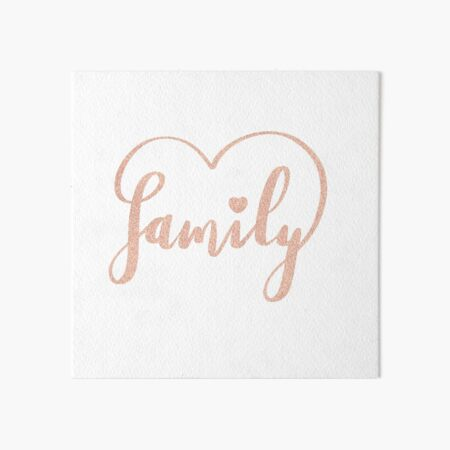 Family Love by Alice Monber Art Board Print