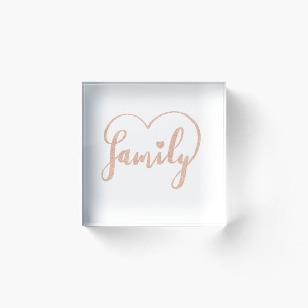 Family Love by Alice Monber Acrylic Block