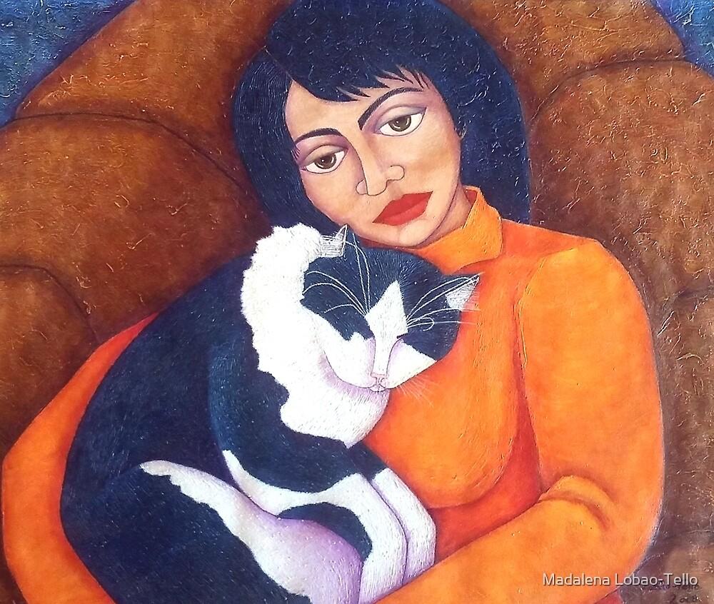 Morgana with Woman  by Madalena Lobao-Tello