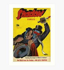 Shadow Comics Art Print