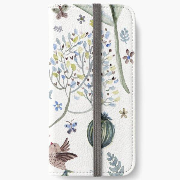 Happy birds  the garden iPhone Wallet