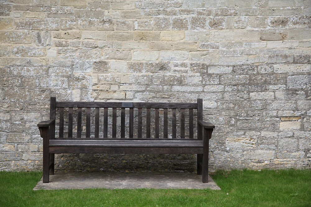 The seat outside the church by Jeff  Wilson