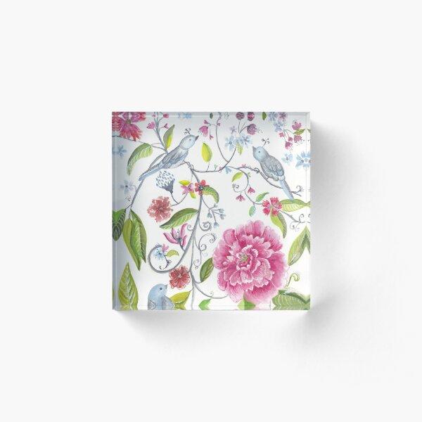 Flower garden Acrylic Block