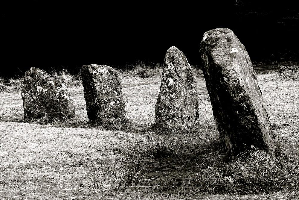A stone circle,Dartmoor.. by Amanda Gazidis
