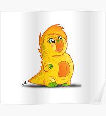 Monster Alphabet - Letter B Poster