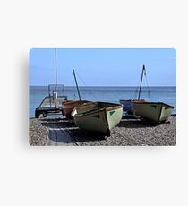 Twin Boats, Tweedledum and Tweedledee... Canvas Print