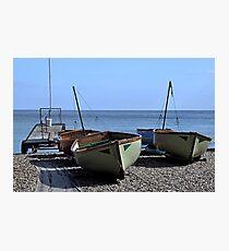 Twin Boats, Tweedledum and Tweedledee... Photographic Print