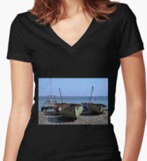 Twin Boats, Tweedledum and Tweedledee... Women's Fitted V-Neck T-Shirt