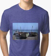 Twin Boats, Tweedledum and Tweedledee... Tri-blend T-Shirt