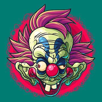 Killer Clown by artdyslexia