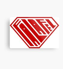 Falafel SuperEmpowered (Red) Metal Print