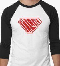 Falafel SuperEmpowered (Red) Men's Baseball ¾ T-Shirt